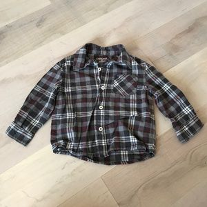 Cherokee Boys Gray & Red Button Down - Size 2T
